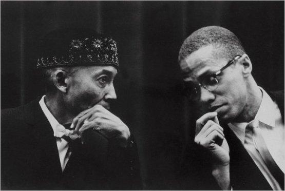 Malcom-X and Elijah Muhammad
