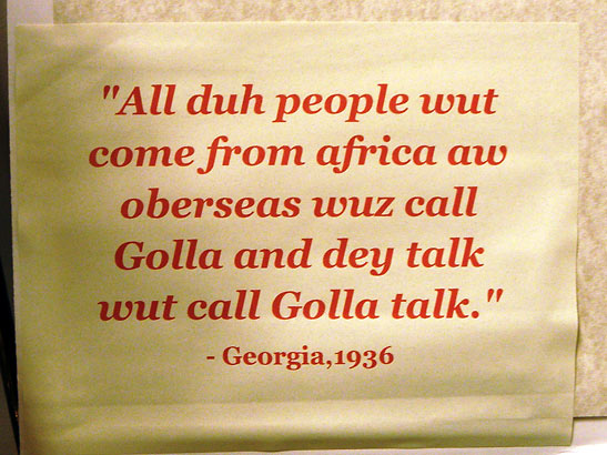 the gullah language The gullah language is what linguists call an english-based creole language creoles arise in the context of trade, colonialism, and slavery when people of diverse backgrounds are thrown together and must forge a common means of communication.